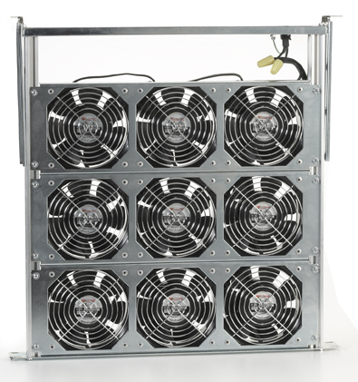 Fan Trays 2 on cross flow fan low profile blower