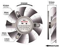 PLA07015B-E Series Type E Frameless Fans - 2