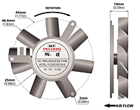 PLD05010B-K Series Type K Frameless Fans - 2