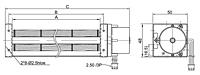 EC Crossflow Fan JET-030A Series - Dimensions