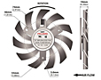 PLD08010B-B Series Type B Frameless Fans - 2