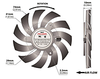 PLD08010B-A Series Type A Frameless Fans - 2