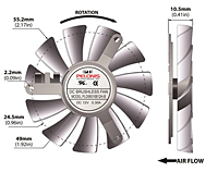 PLD06010B-B Series Type B Frameless Fans - 2