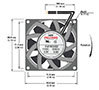 RJ8038 EC Series Axial Fans - Diagram Front View